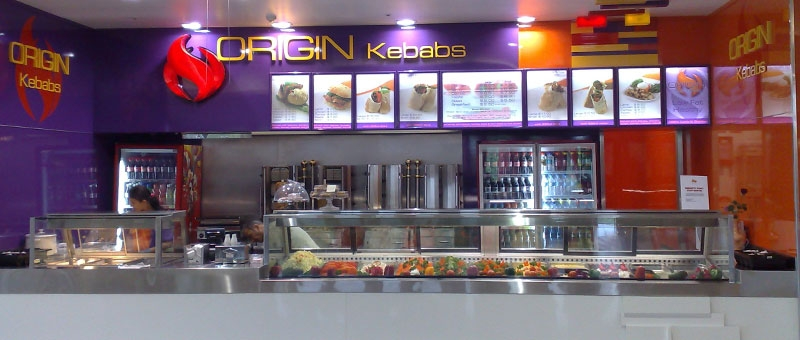 Origin Kebabs Airport Shop Fit Out